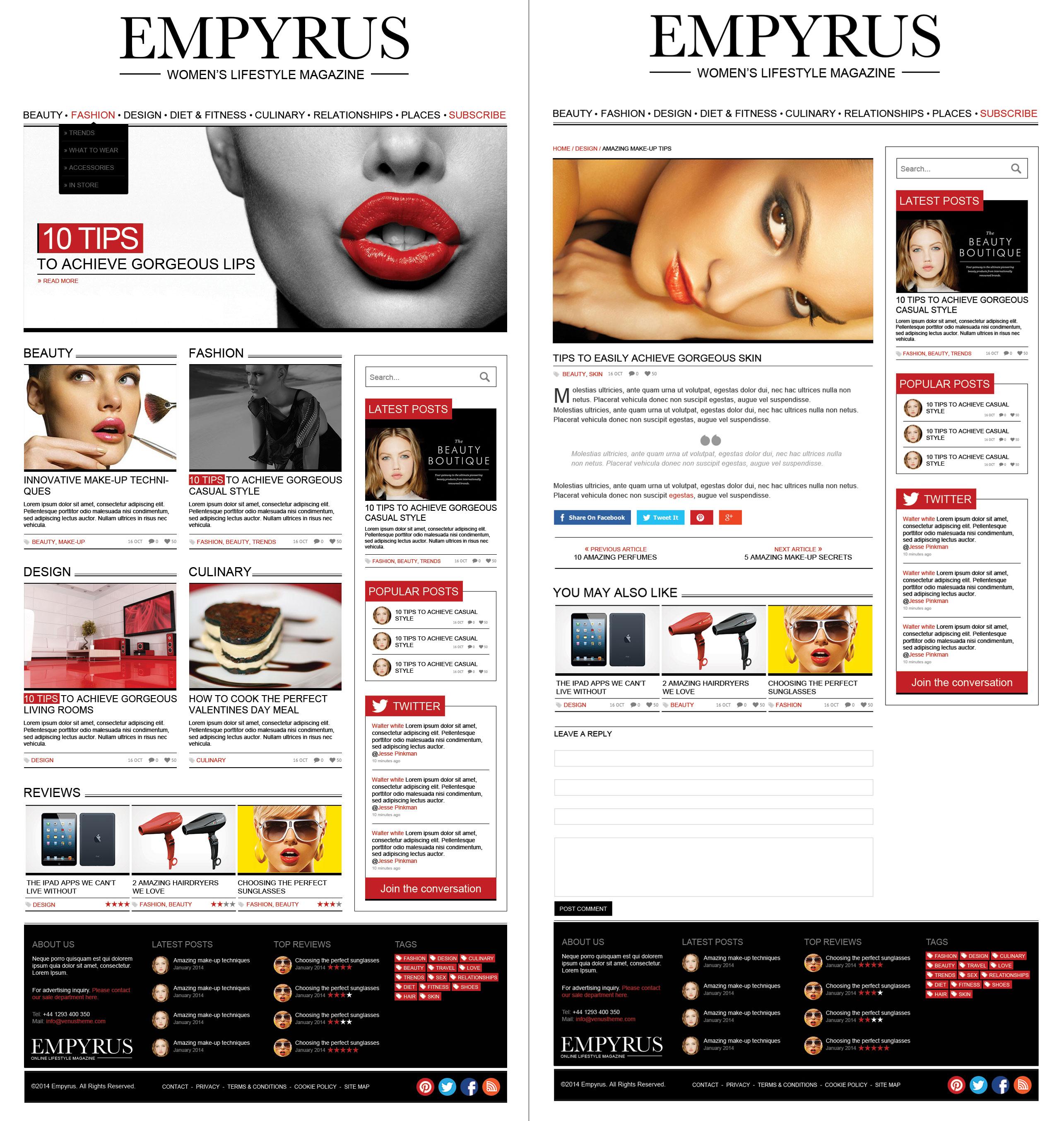 Empyrus - Women's lifestyle magazine