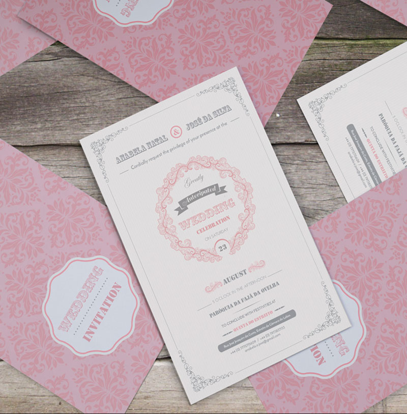 Anabela Natal and Jose Silva Wedding Invitation