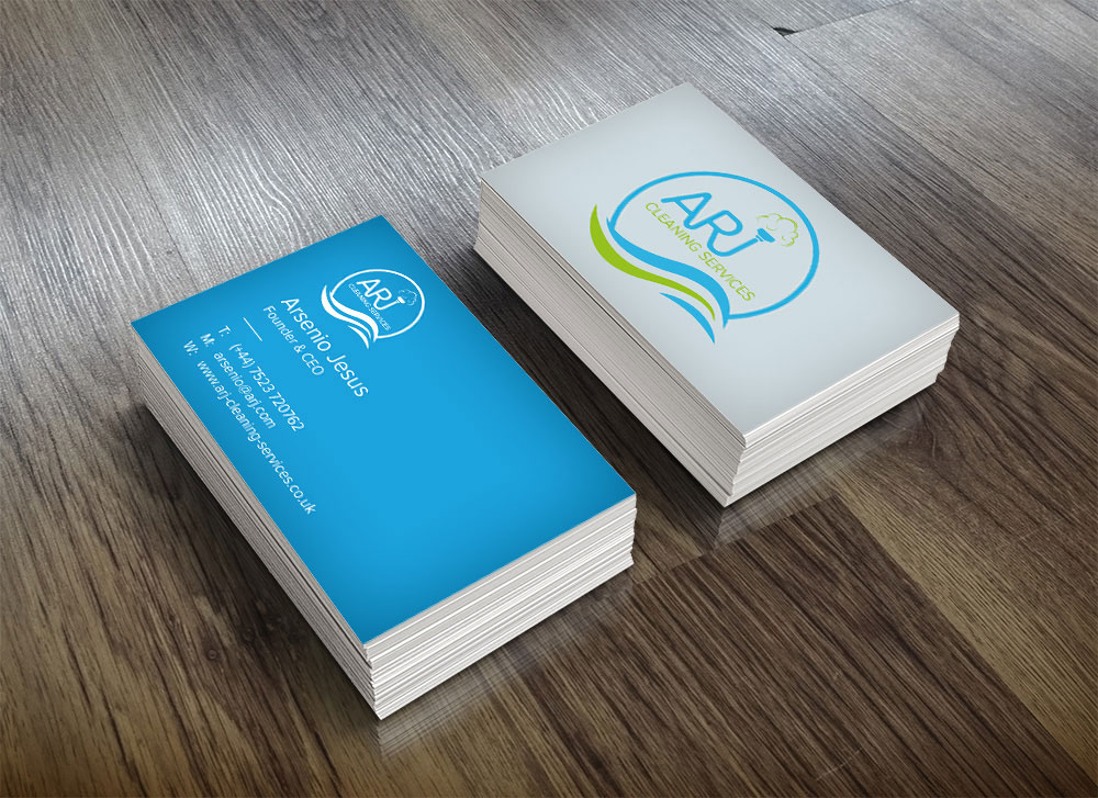 ARJ Cleaning Services Business Cards | Paulo Natal